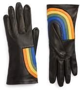 Agnelle Women's Rainbow Lambskin Leather Gloves