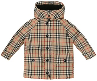 BURBERRY KIDS Jamir Vintage Check hooded coat