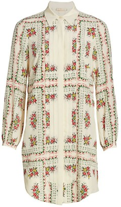 Tory Burch Cora Floral Silk Shirtdress