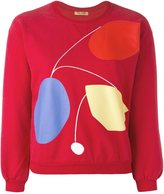Peter Jensen art cropped sweatshirt