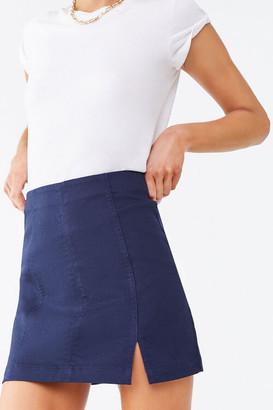Forever 21 Paneled Denim Mini Skirt
