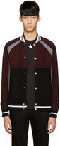 Givenchy Burgundy & Black Wool Cardigan
