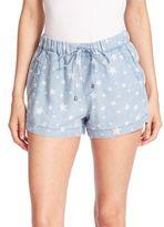 Splendid Chambray Star-Print Shorts