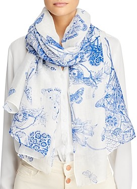Fraas Toile Floral Scarf - 100% Exclusive