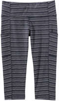 Joe Fresh Women's Stripe Crop Active Legging, JF Midnight Blue (Size S)