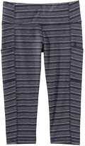 Joe Fresh Women's Stripe Crop Active Legging, JF Midnight Blue (Size XS)