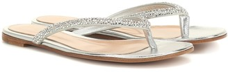Gianvito Rossi Diva leather thong sandals