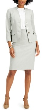 Le Suit Petite Textured Skirt Suit
