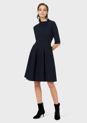 Emporio Armani Jacquard Pique Knit Dress