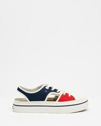 Tommy Hilfiger Cutout Flatform Sneakers