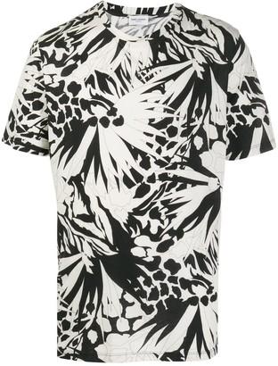 Saint Laurent abstract print crew neck T-shirt