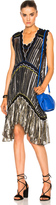 Peter Pilotto Metallic Chiffon Dress