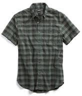 Todd Snyder Short Sleeve Olive Plaid Shirt