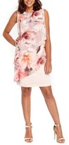 Wallis Women's Floral Overlay Shift Dress