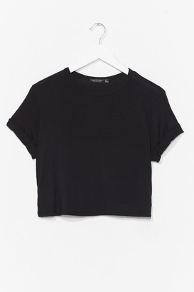 Nasty Gal Womens Tee Right Through 'Em Cropped Tee - Black - 4