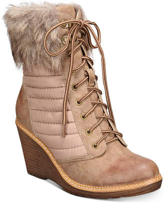 Zigi Ames Wedge Booties Women Shoes