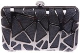 Ainemay Glitzy Abstract Rhinestone Clasp Box Evening Clutch Bag