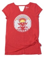 Epic Threads Big Girls Short Sleeve Knot Front Graphic Tee