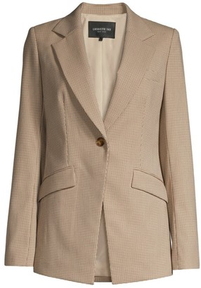 Lafayette 148 New York Virginia Micro Check Blazer