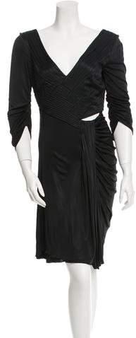 Versace Pleated Knee-Length Dress