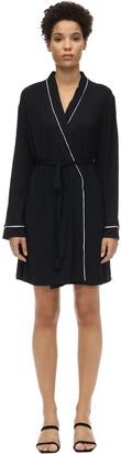 Eberjey Gisele Tuxedo Jersey Robe