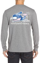 Vineyard Vines Men's Downhill Ski Whale Graphic Pocket T-Shirt