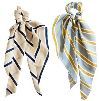 Headbands Of Hope Striped Darling Scrunchie Sca rves, Set of 2