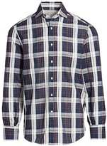 Brunello Cucinelli Windowpane Check Shirt