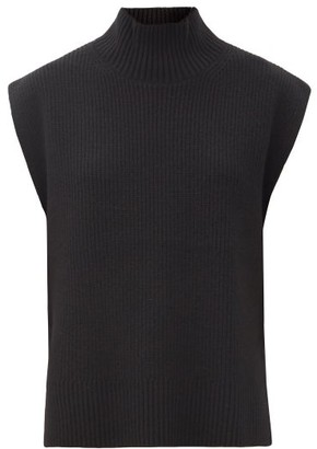 Cefinn Janice Roll-neck Sleeveless Wool-blend Sweater - Black