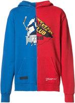 Off-White Auction House colour block hoodie - men - Cotton - M