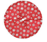 Asstd National Brand 20 Red and White Snowflake Design on Sheer Organza with Silver Glitter Mini Christmas Tree Skirt