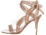 Marchesa Laser-Cut Wrap-Around Sandals