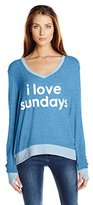 Peace Love World Women's I Love Sundays Comfy Cozy Sweatshirt