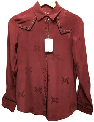 Zadig & Voltaire Red Silk Top for Women