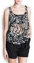 MANGO Floral print top