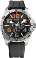 BOSS ORANGE Men's Black Silicone Strap Watch 48mm 1512945