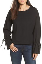 Halogen Women's Cinch Cuff Sweatshirt