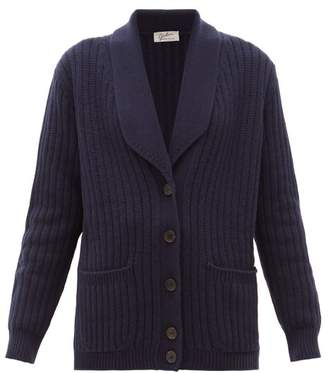 Giuliva Heritage Collection The Clio Ribbed Wool-blend Cardigan - Womens - Navy