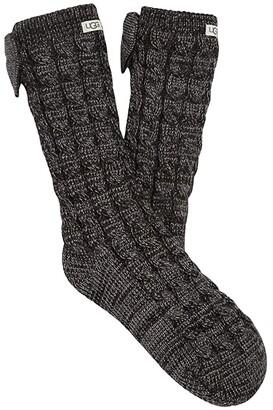 UGG Laila Fleece Lined Sock (Charcoal/Silver) Women's No Show Socks Shoes