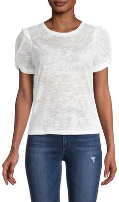Design History Puff-Sleeve Burnout T-Shirt