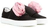 Roger Vivier Sneaky Viv Rose Satin Sneakers
