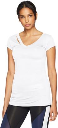 Sam Edelman Women's Ripped Short Sleeve Tee Shirt