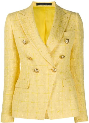 Tagliatore Jalicya tweed double-breasted blazer