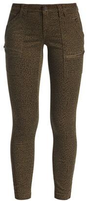 Joie Leopard Print Mid-Rise Skinny Pants