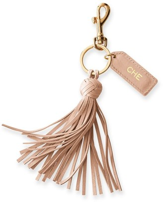 Mark & Graham Leather Tassel Keychain