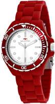 Seapro Women's Spring 36mm Red Silicone Band Steel Case Quartz Watch Sp3214