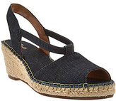 Clarks As Is Artisan Espadrille Wedge Slip-on Sandals