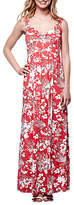 Yumi Floral Tulip Maxi Dress, Red/White