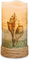 Bed Bath & Beyond Conch Shell Flameless Pillar Candle with LED and Timer