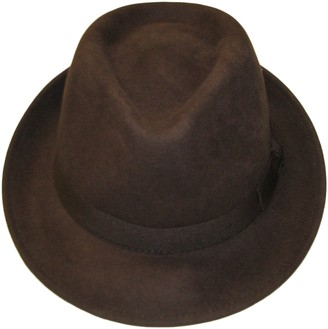 Major Wear Unisex Brown 100% Wool Hand Made Felt Fedora Trilby Hat with Band - 4 Sizes (Small)